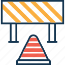 barrier, construction barrier, road under construction, traffic barrier icon
