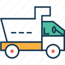 cargo, construction, dumper, transport, truck, vehicle icon