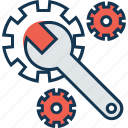 cogwheel, gear wheel, repair tool, settings, spanner icon