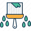 brush, house interior, paint, paint brush, painting, painting brush with drops, wall paint icon