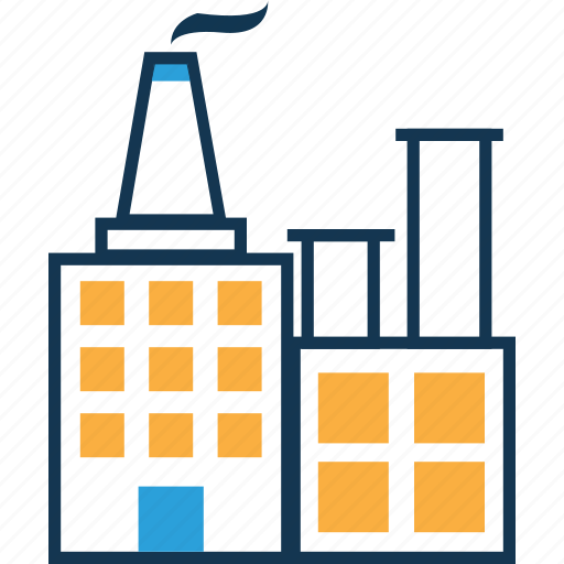 chimney, factory, industry, manufactory, mill icon