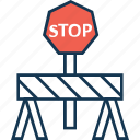barrier, construction barrier, hurdle, road barrier icon