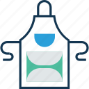 apron, chef apron, chef uniform, construction wear, kitchen pinafore icon