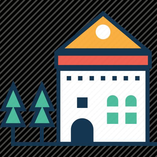 building, farmhouse, house, hut, living house icon
