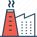 cooling tower, generating plant, nuclear plant, power station icon