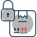 box, locked, package, parcel icon