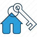 building key, home, key, protection, security icon