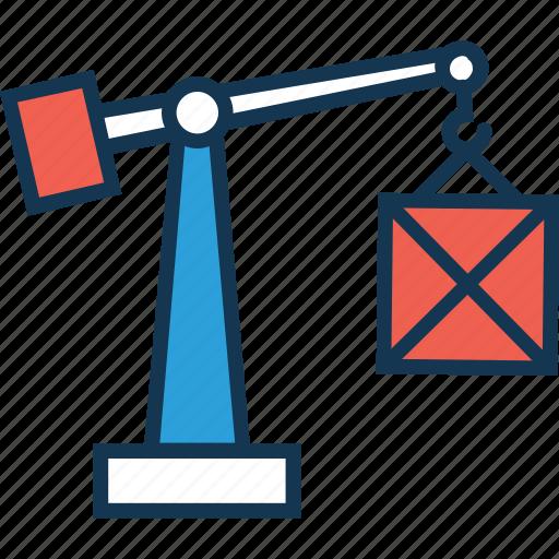 crane, excavator, heavy equipment, lifter, lifting crane icon