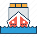 cargo ship, merchant ship, sailing vessel, shipment icon