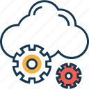 cloud, cloud preferences, cloud settings, cloud with cog, data configuration, gear, settings icon