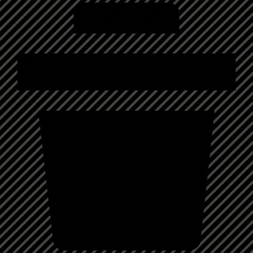 bin, dustbin, garbage container, recycle bin, trash, trashcan icon
