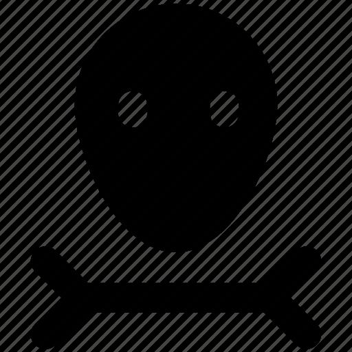 bone, danger, dangerous, deadly, halloween, skull icon
