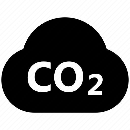 carbon cloud, cloud, co2 emission, co2 formula, dioxide, ecology waste icon