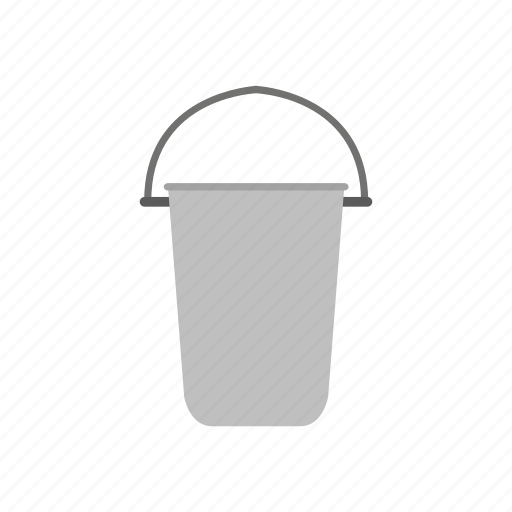 bucket, building, construction, industry, job, tool, work icon