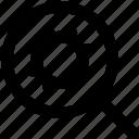 cogwheel, gear, magnifier, magnifier setting, magnifying glass, zoom
