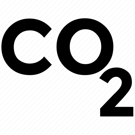 carbon, co2 emission, co2 formula, dioxide, ecology waste icon