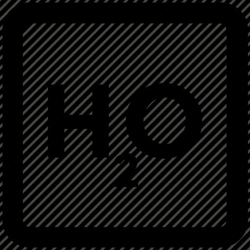 chemistry, h2o formula, hydrogen, liquid, oxygen, science icon