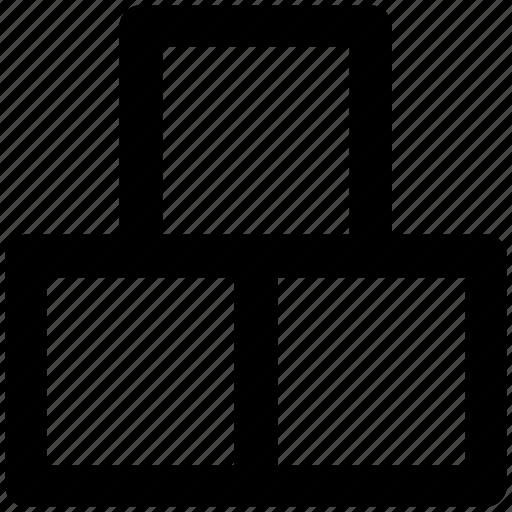 blocks, bricks, cubes, square tile, tiles, tiles bricks icon