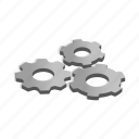 engine, equipment, gear, isometric, machine, mechanical, wheel icon
