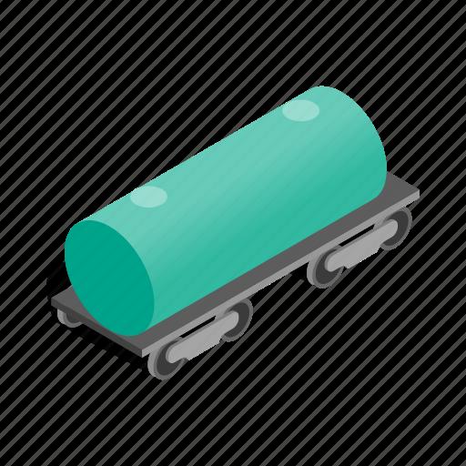 fuel, gasoline, isometric, oil, railway, tank, transportation icon