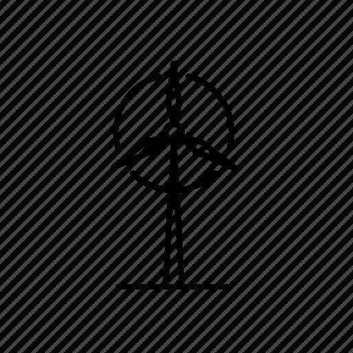 energy, plant, power, wind, windmil icon