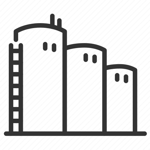 factory, industrial, industry, process, production, silo icon