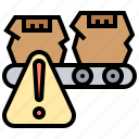 alarm, defect, flaw, products, warning icon