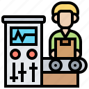 assembly, control, manufacture, product icon
