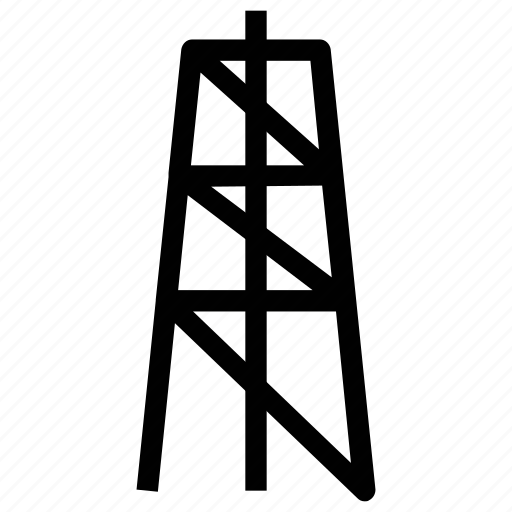 electricity tower, factory tower, industrial tower, signals tower, supply tower, tower icon