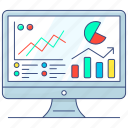 data, analytics, business analysis, data analytics, business monitoring, analytics evaluation, analytical chart icon
