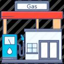 gas, station, filling station, gas station, service station, gasoline station, petrol pump