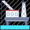 offshore, platform, oil rig, offshore platform, oil platform, offshore rig, drilling platform icon
