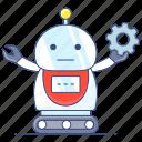 robot, automaton, bionic person, robotic device