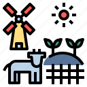 agricultural, agriculture, cultivate, farm, farming, garden, rural icon