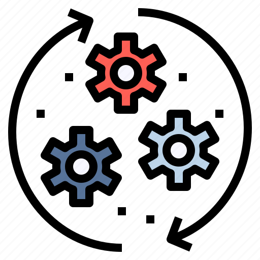 device, engine, mechanism, network, process, protocal, technology icon