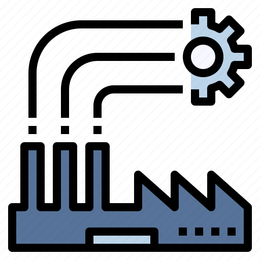 factory, industrial, industry, manufacturing, plant, production, workshop icon