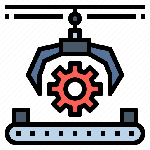 engine, factory, industrial, industry, machine, machinery, production icon