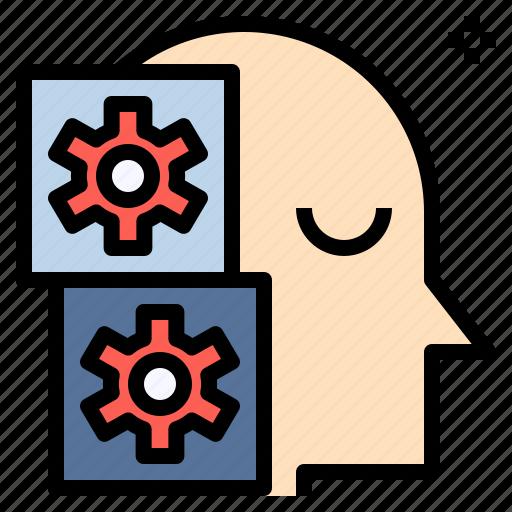 automaton, engineering, machine, mechanism, robot, technician, technology icon