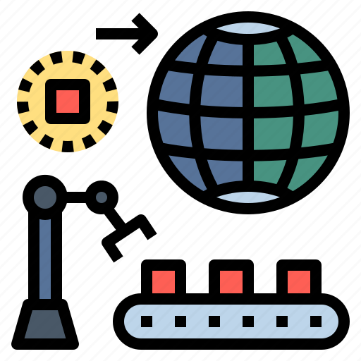 Industrial, machine, manufacture, manufacturing, produce, production, robot icon - Download on Iconfinder