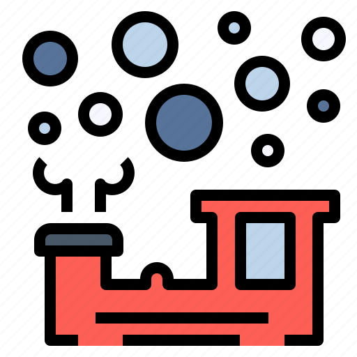 bubble, journey, smoke, steam, train, travel, vehicle icon