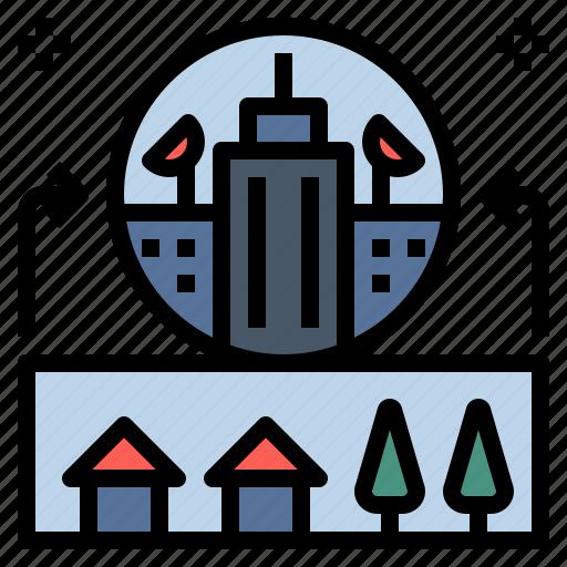 building, change, city, office, suburb, urban, urbanisation icon