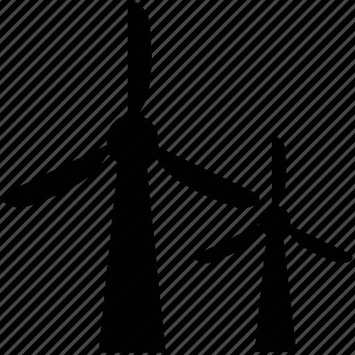 green energy, wind engine, wind power, wind rotary engine, wind turbines icon