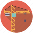 building, construction, crane, equipment, industry, machinery icon