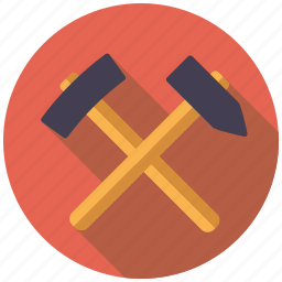 equipment, hammer, industry, mining, tools icon