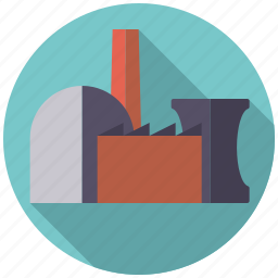 building, energy, industry, nuclear power, power plant icon