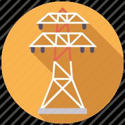 energy, equipment, industry, power line, pylon icon