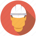 hard hat, helmet, industrial, industry, man, worker icon
