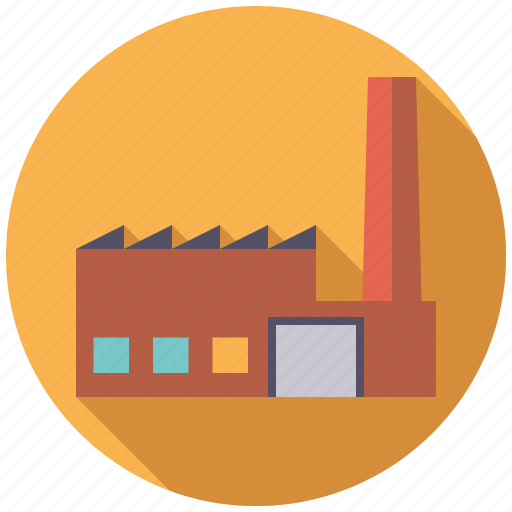building, chimney, factory, industry, plant icon