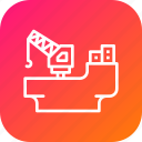 crain, digging, industry, load, oil, rig, ship icon