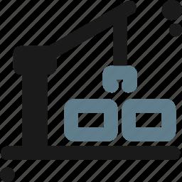 crane, hook, lifter, lifting, load, loader, port icon